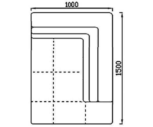 Модуль Спилберг: оттоманка 150, две подушки, размер 100*150