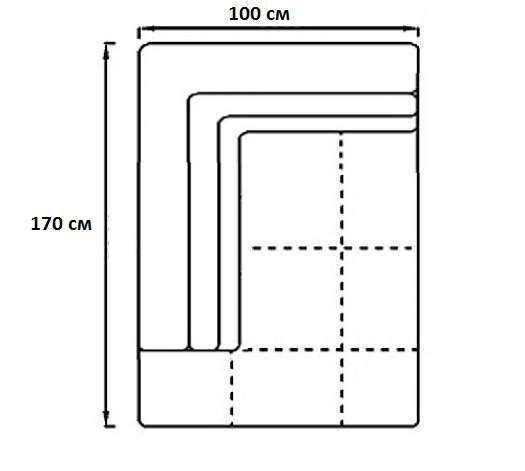 Модуль Спилберг: оттоманка 170, две подушки,  размер 100*170