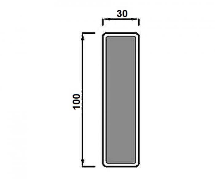 Модуль Спилберг: подлокотник с декором, размер 30*100