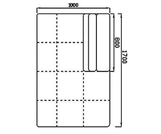 Модуль Спилберг: канапе большое, размер 100*170