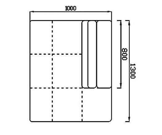 Модуль Спилберг: канапе малое, размер 100*130