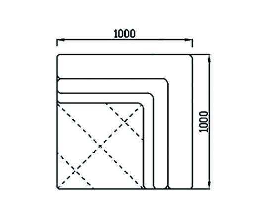 Модуль Спилберг: угловой, одна подушка, размер 100*100