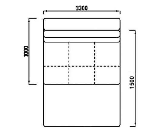 Модуль Спилберг: диван раскладной малый, размер 130*100, сп.место 130*150