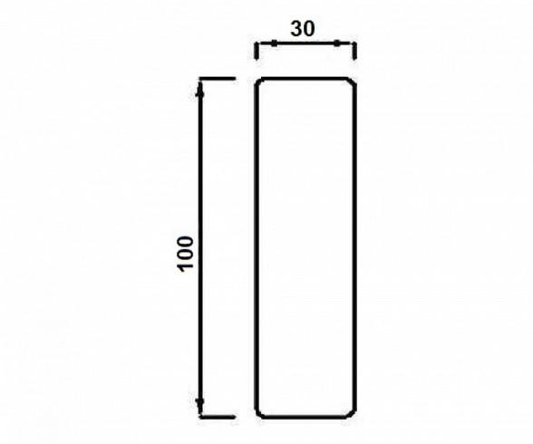 Модуль Спилберг: подлокотник мягкий, размер 30*100