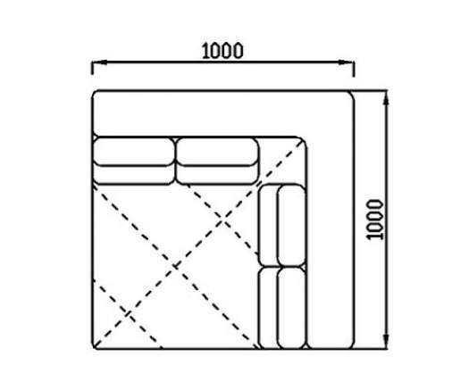 Модуль Спилберг: угловой, 4-ре подушки, размер 100*100
