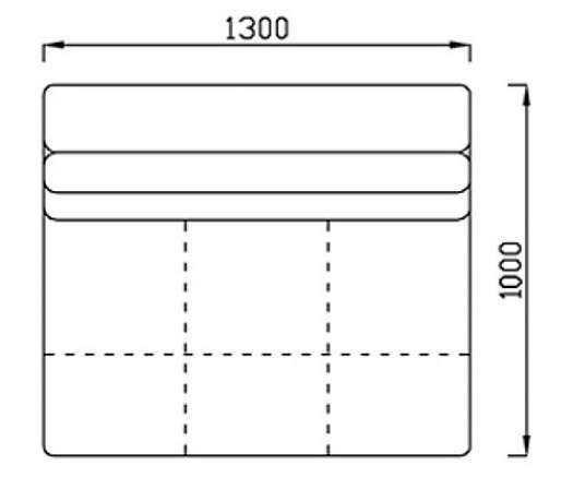 Модуль Спилберг: кресло малое, размер 130*100