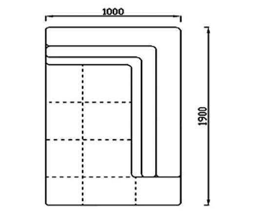 Модуль Спилберг: оттоманка 190, две подушки, размер 100*190