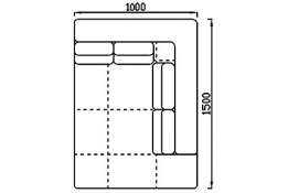 Модуль Спилберг: оттоманка 150, четыре подушки, размер 100*150